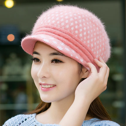 0222d327839 Buy Rabbit fur winter hat female korean tidal ms. warm thick knit hat wool  hat beret cap hat spring and autumn in Cheap Price on m.alibaba.com