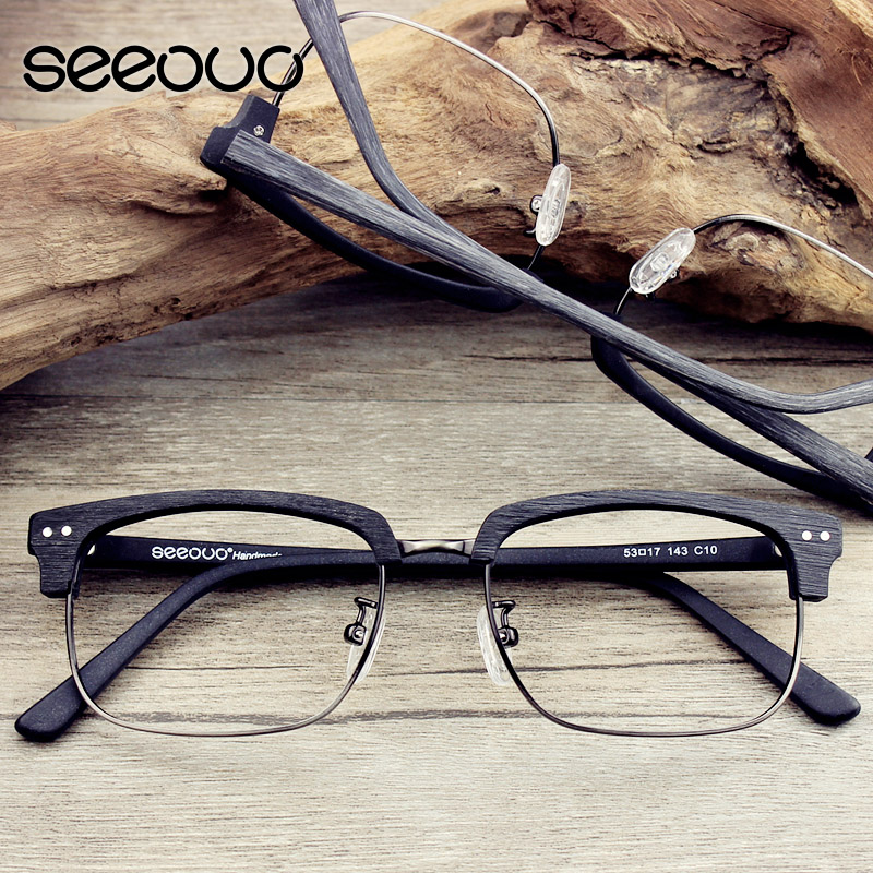 ffd52a2031 Retro half frame glasses frame myopia frame glasses frame female models  korean version of the influx of male eye box frames rimmed glasses plain  mirror ...