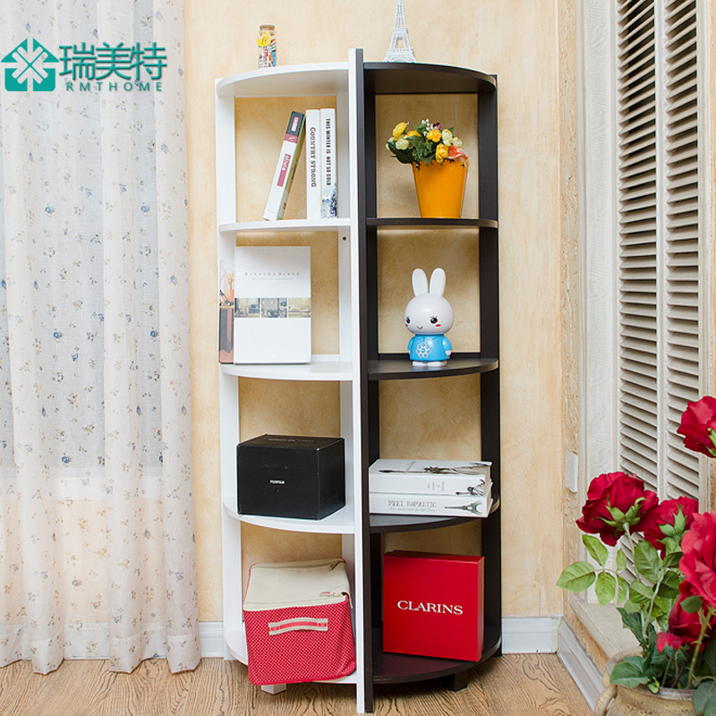 Rui us special european creative living room bedroom wall corner shelf  corner shelf bookcase five floor racks corner shelf