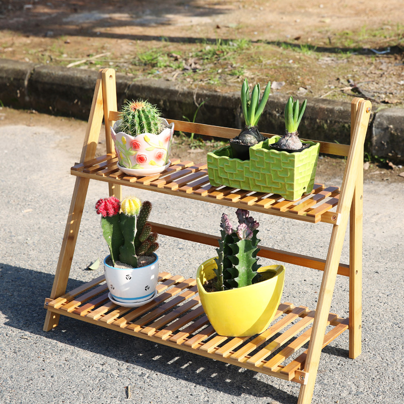 Buy Run Carved Bamboo Folding Fleshy Flower Garden Balcony Living Room  Floor Rack Multilayered Wood Shoe Racks Specials In Cheap Price On  M.alibaba.com