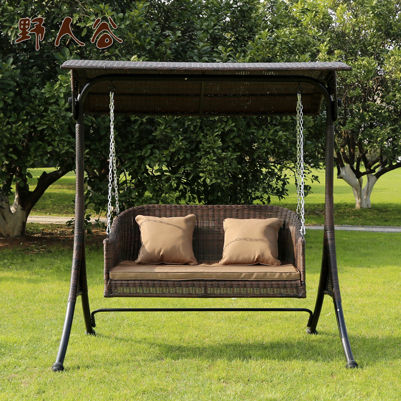 Buy Savage Valley Double Balcony Patio Outdoor Wicker Chair Swing Hanging  Chair Swing Swing Chair Hanging Chair Indoor Hammock Hanging Basket In  Cheap Price ...