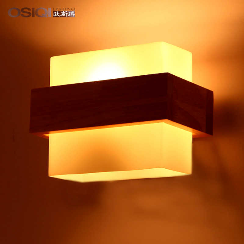Solid Wood Decorative Lamps Modern Minimalist Wall Lamp American Country European Retro Living Room Book Hallway Bedroom Bedside In