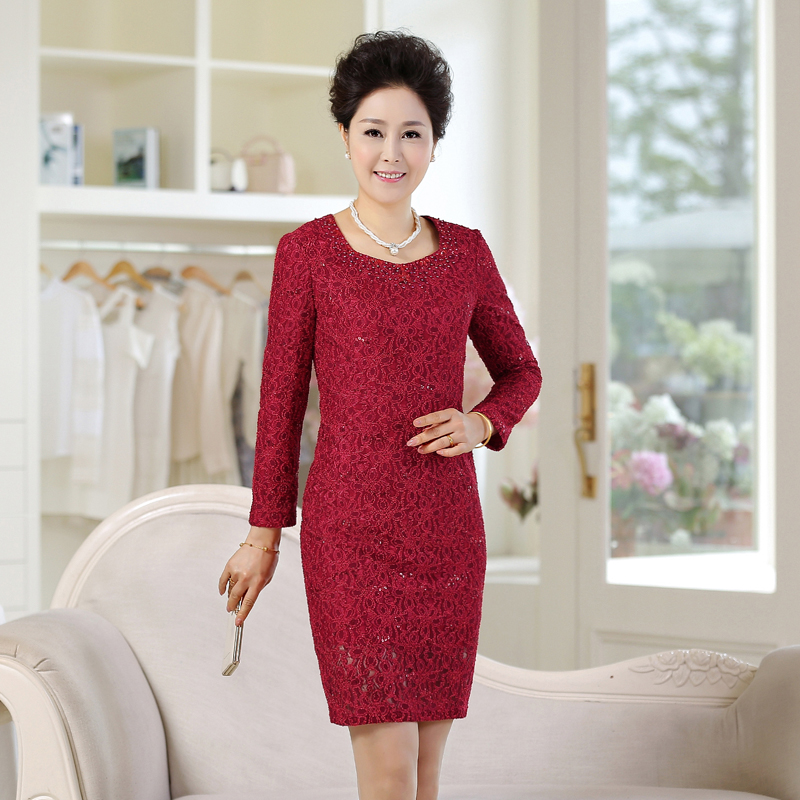 dc87f60ce17c Song xi 2016 wedding mother dress wedding dress wedding dress long sleeve mother  dress temperament of high end