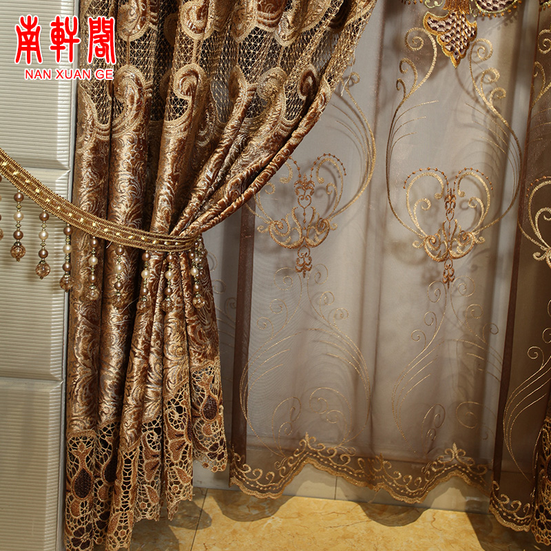 Buy South court european luxury living room curtains bedroom ...