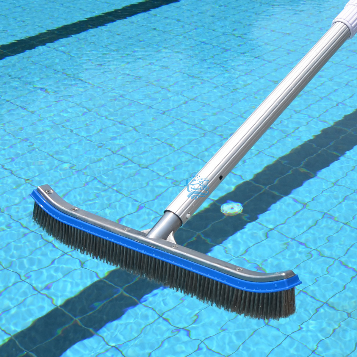 Stainless Steel Wire Brush To The Pool 18 Inch Aluminum Adhesive Bottom Wall Cleaning Moss Pond Tools