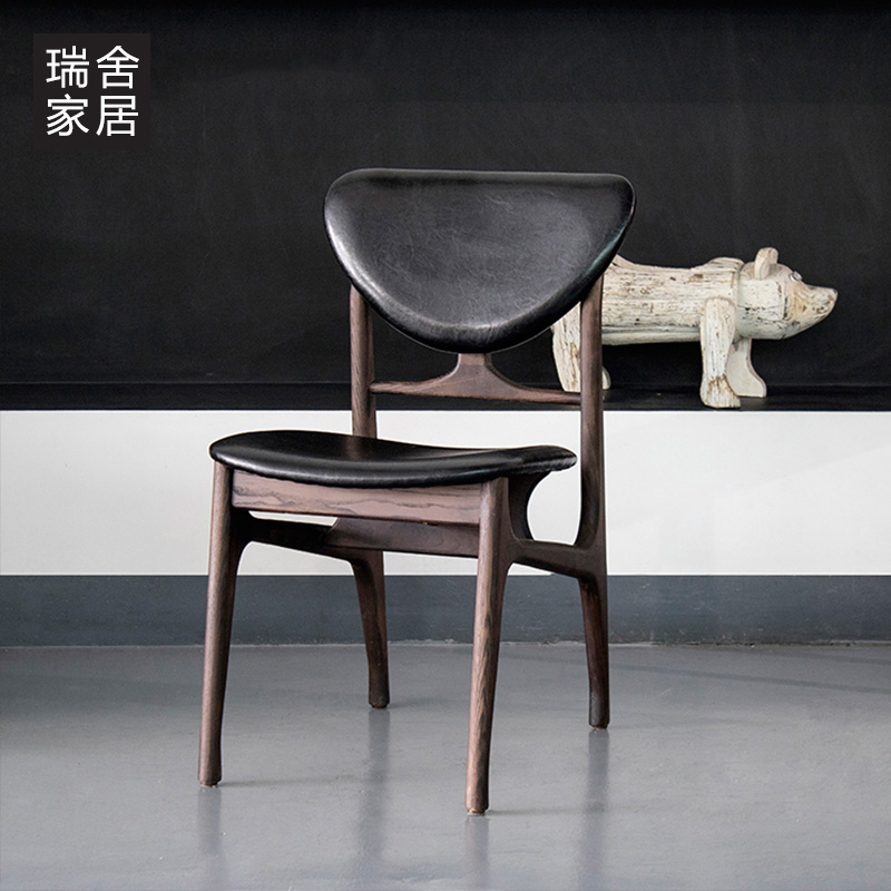 Buy Swiss homes wood dining chair dining chair leisure chair ...