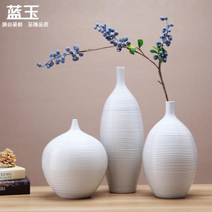 . Buy Three sets of jingdezhen ceramic vase white european vase living