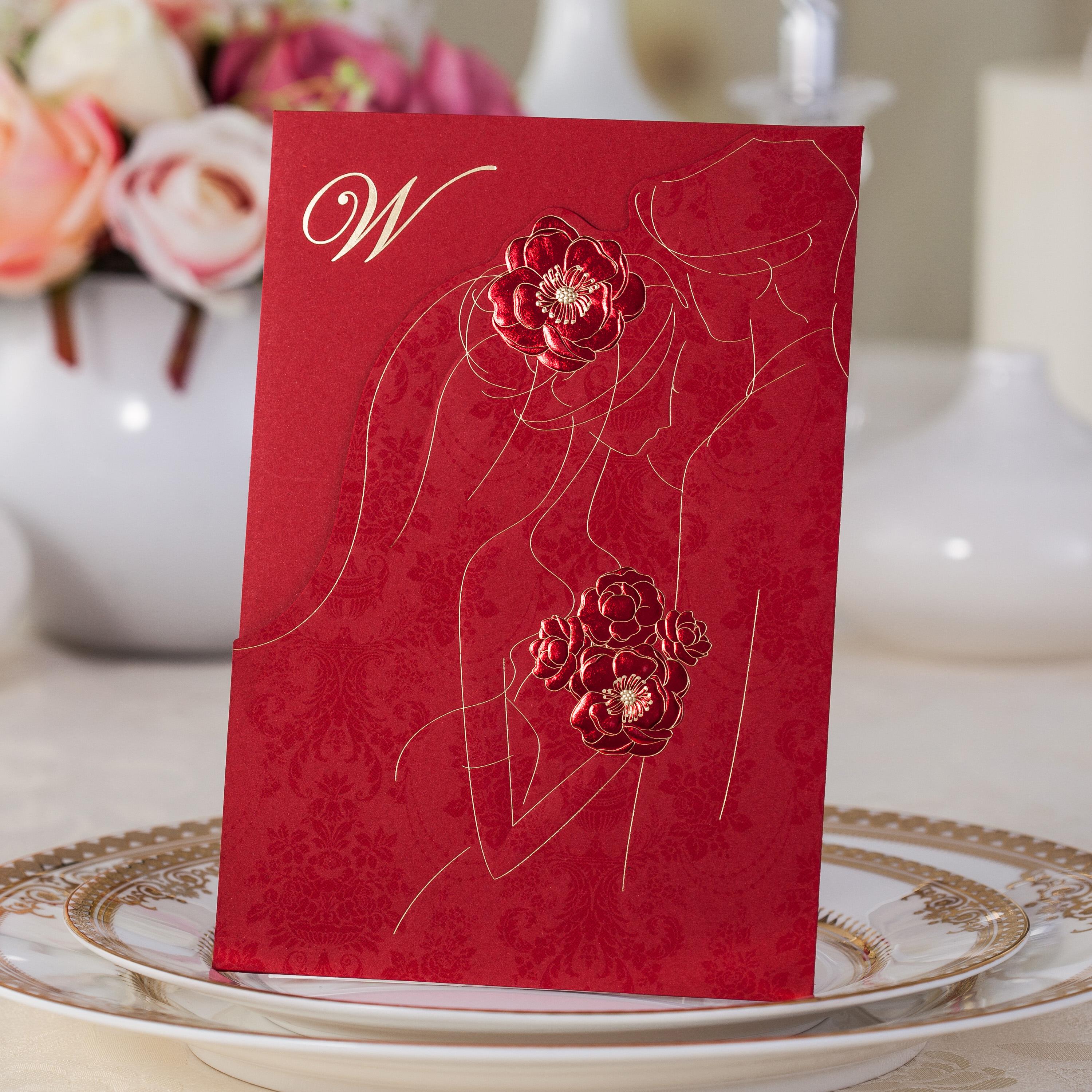 Buy Creative wedding supplies wedding invitations korean wedding ...