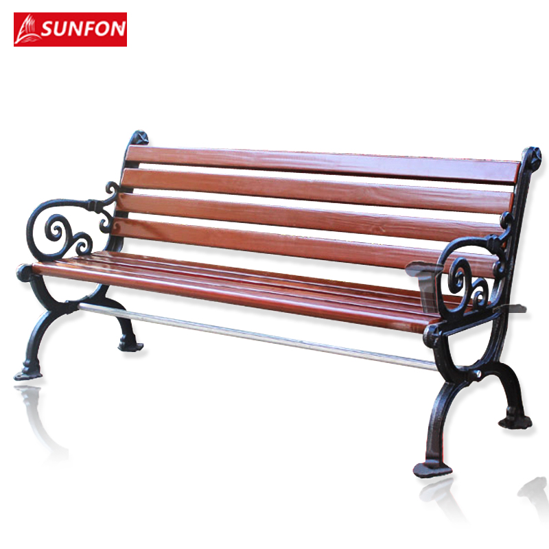 Buy Volcker Outdoor Lounge Chair Wood Garden Chairs Cast Iron Wood