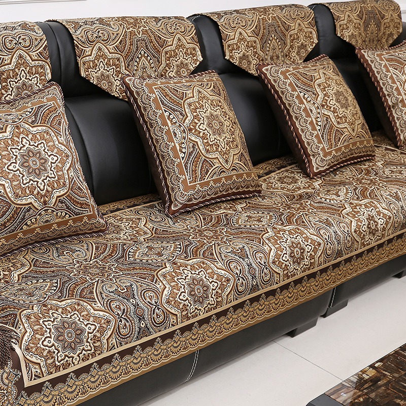 Buy Wie Chi European Sofa Cushion Fabric Sofa Cushion Cover Leather Sofa  Cushion Sofa Cushion Four Seasons Luxury Custom Slipcover Slip In Cheap  Price On ...