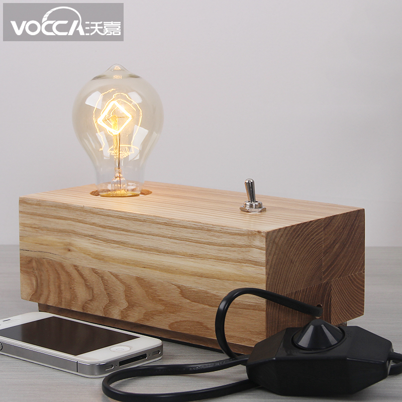 Buy Wojia Edison Lamp Dimmable Bedroom Bedside Lamp Creative