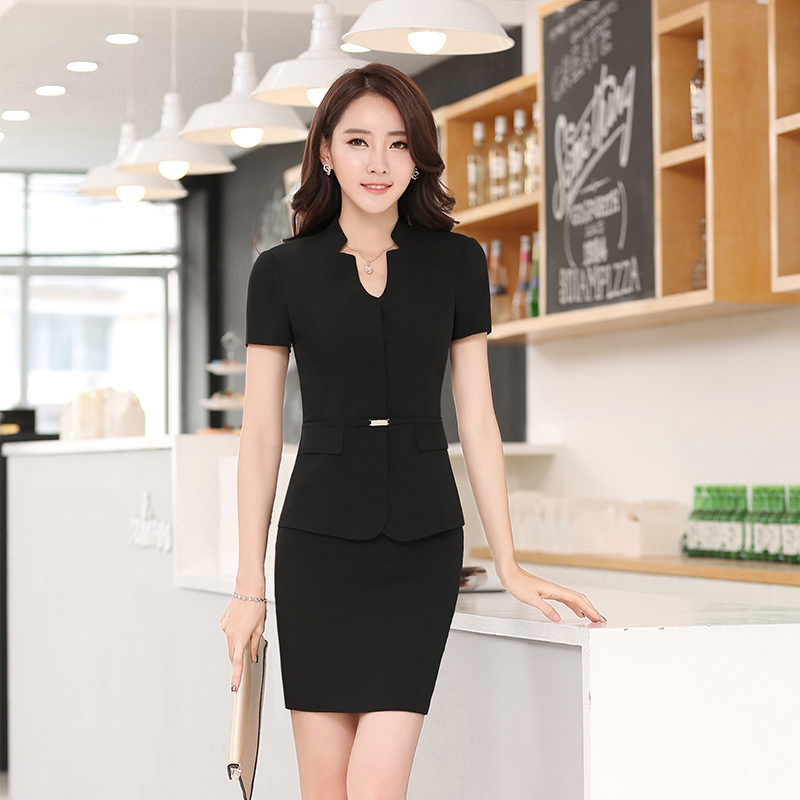 6ceb7ee4670 Buy Women wear dresses short sleeve black business suits overalls hotel  reception office ol fashion slim suits overalls in Cheap Price on  m.alibaba.com