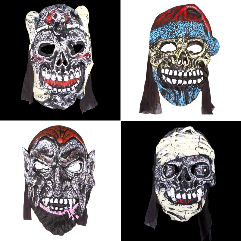 xi bao halloween masks the whole person funny horror hebra rubber rubber mask grimace grimace mask with hair