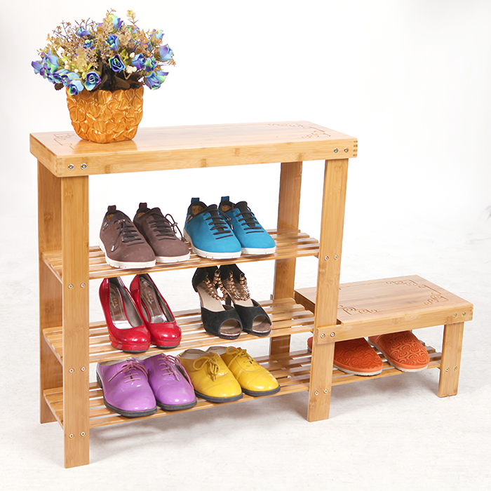 Buy Xinguang Furniture Simple Multilayer Wood Creative Shoe Storage Shoe  Rack Dust Storage Shoe Bamboo Dormitory Living Room Deals In Cheap Price On  ...