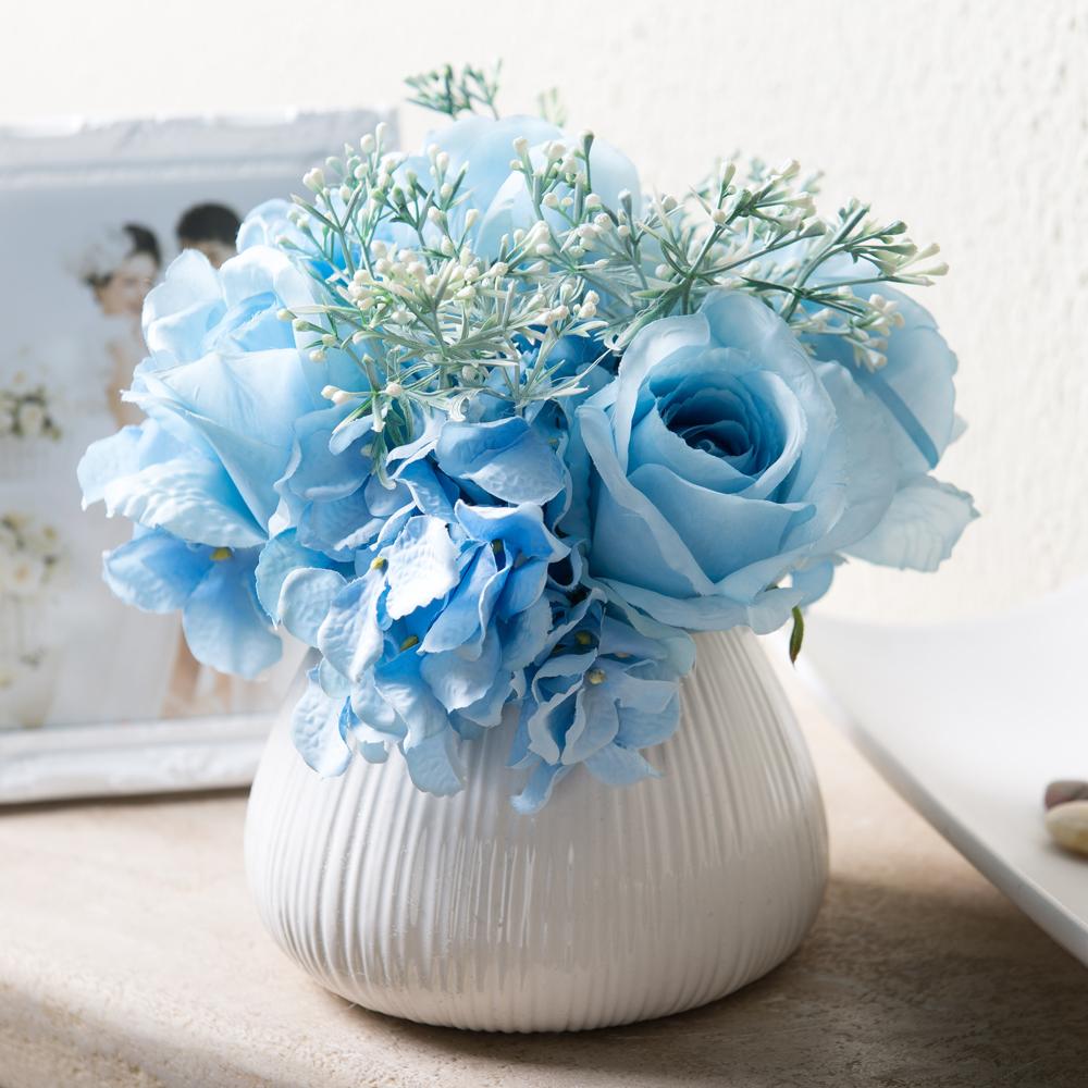 Buy Yixuan light blue calla lily artificial flowers artificial flowers fake floral silk flower floral decoration flower silk flower ceramic vase in Cheap ... & Buy Yixuan light blue calla lily artificial flowers artificial ...