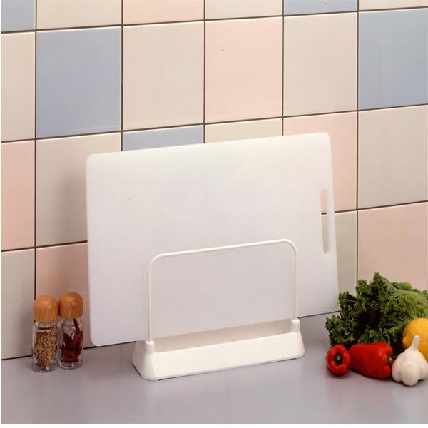 日本LEC廚房菜板架砧板架刀架灶臺置物收納架塑料 菜板案板瀝水架