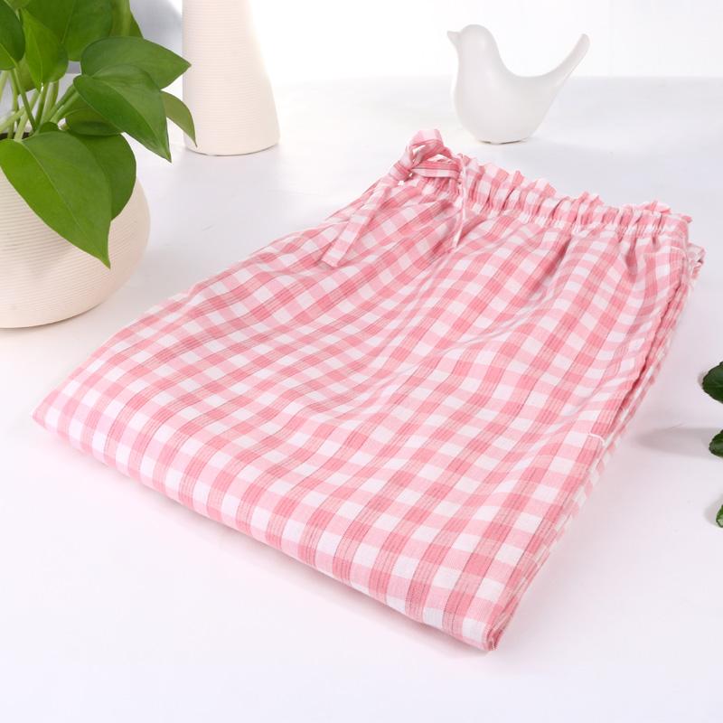 夏款大码女士全棉睡裤家居裤纯棉宽松舒适长裤手感柔软居家裤