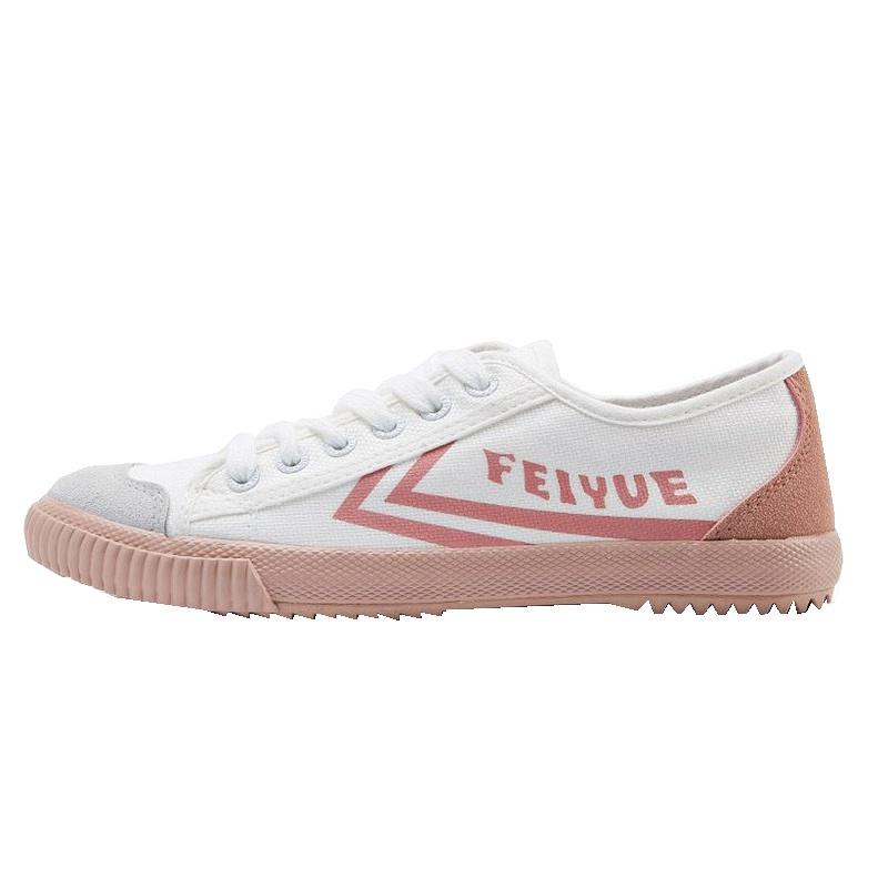 2083 春夏季新款休闲粉色拼接 2019 飞跃女鞋小白鞋法国版平底帆布鞋