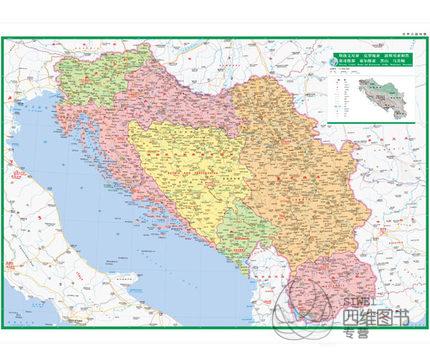斯洛文尼亞克羅地亞波斯尼亞黑塞哥維那塞爾維亞黑山馬其頓地圖