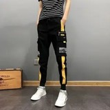 Spring Tide brand casual men's overalls pants Korean version tide loose pants male and feet