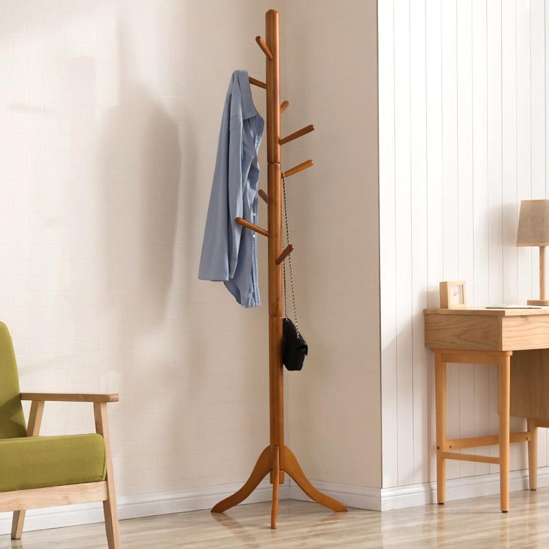 实木衣帽架落地衣架卧室北欧挂衣架简易创意客厅欧式简约衣服架子