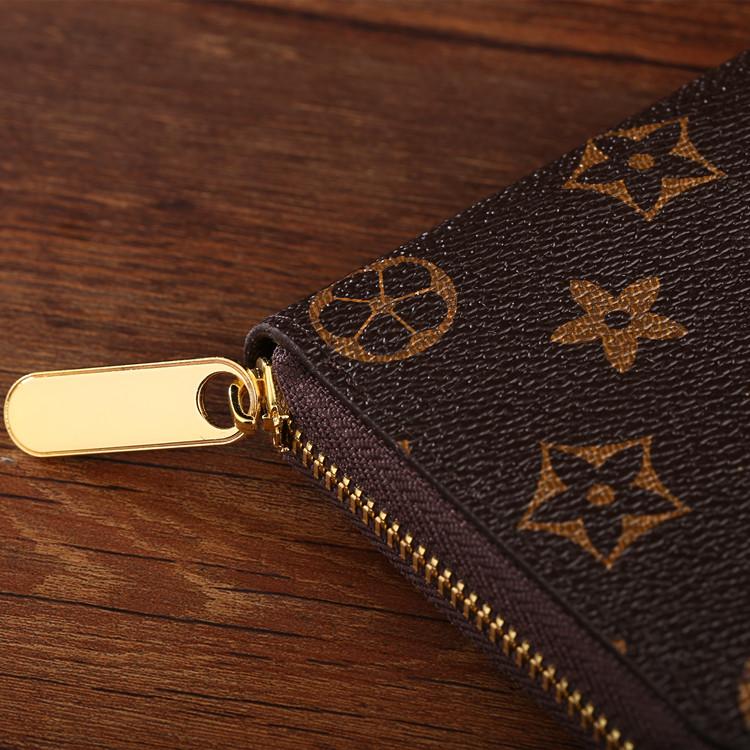 经典老花长款钱包男青年拉链休闲钱夹手包女士手机包情侣手拿包潮