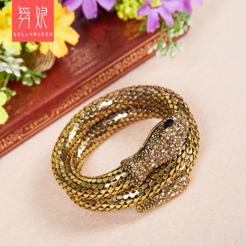 bellyqueen 古銅 銀色蛇形手環 部落風套裝肚皮舞部落套裝美國風