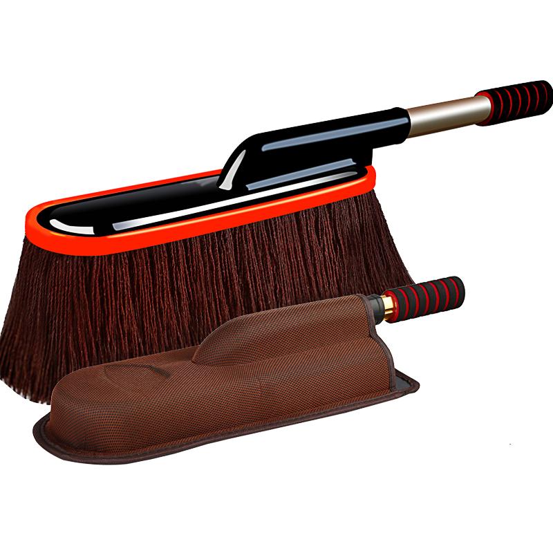 擦车拖把除尘掸子专用扫灰棉线洗车刷子车用蜡拖伸缩扫雪软毛工具