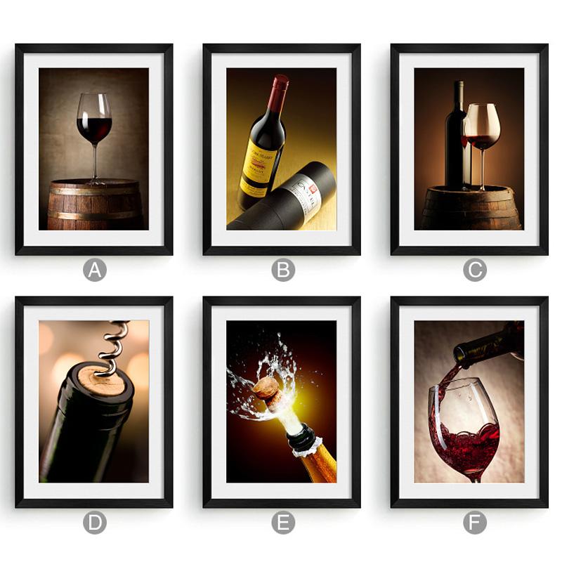 餐厅装饰画壁画客厅沙发背景墙画挂画饭厅店过道玄关红酒画葡萄酒