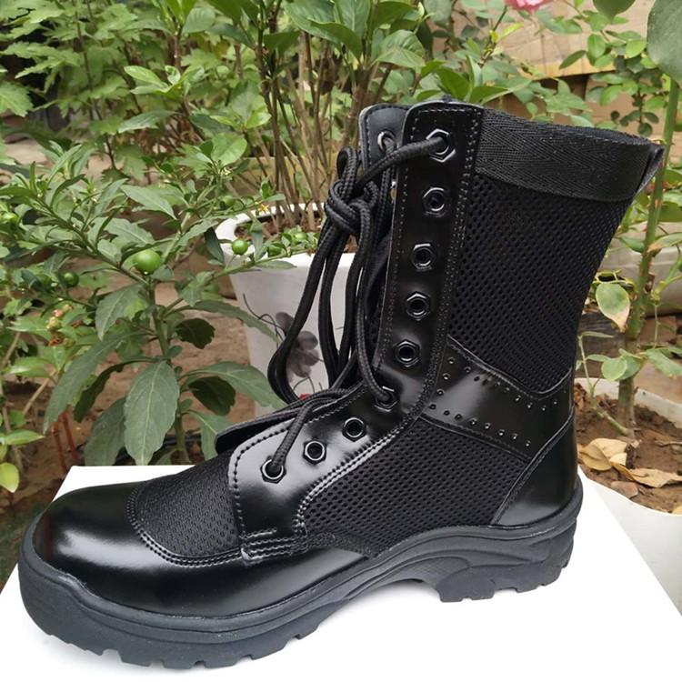 夏季透气军靴男特种兵作战靴战术保安安检作训鞋靴子女马丁靴军鞋