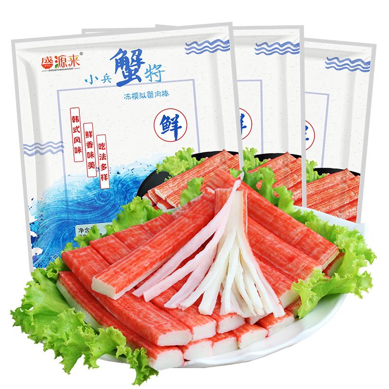 韩式火锅蟹足棒180g*3袋 韩国寿司材料蟹棒 关东煮食材蟹肉蟹柳棒