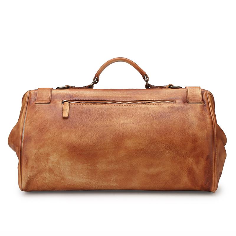 手工复古手提单肩短途旅行包男真皮出差行李袋牛皮旅游登机健身包