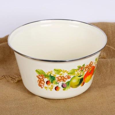 【赠运费险】搪瓷鼓盖盖盆加深盖盆洗手盆高盖搪瓷盖碗汤碗 - 图3