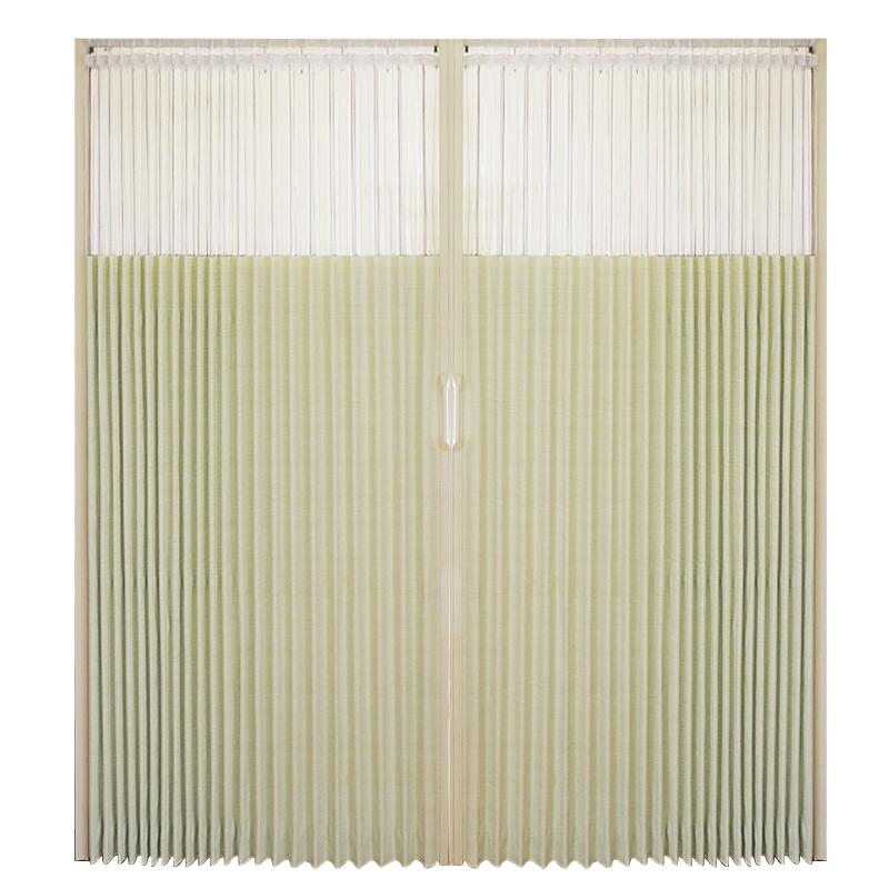 日式窗口型PVC折叠门厨房门推拉门移门隔断客厅阳台室内门套装门