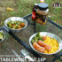 Outdoor tableware portable set picnic picnic camping field use tableware and chopsticks plate stainless steel camping supplies complete set