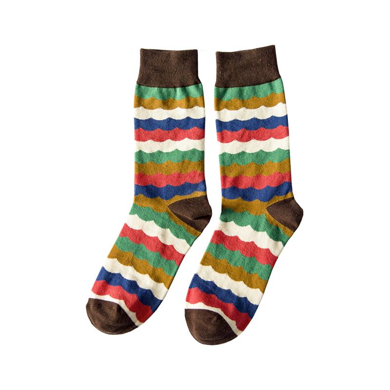 袜子男春秋季纯棉男女中筒袜英伦风个性涂鸦长袜情侣袜潮流中性袜