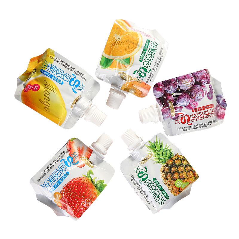 小金鼠吸吸果冻可吸果肉果冻水果布丁儿童零食多口味小包装整箱