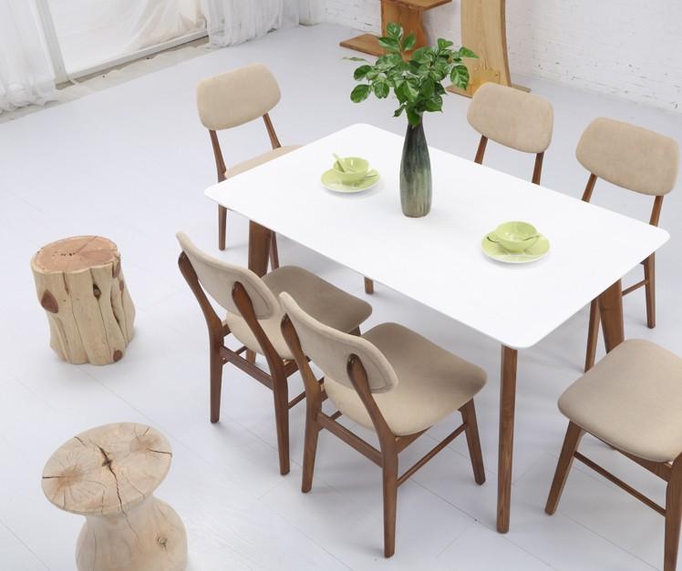 北欧餐桌实木长方形现代简约餐桌椅组合桌子家具小户型桌日式饭桌