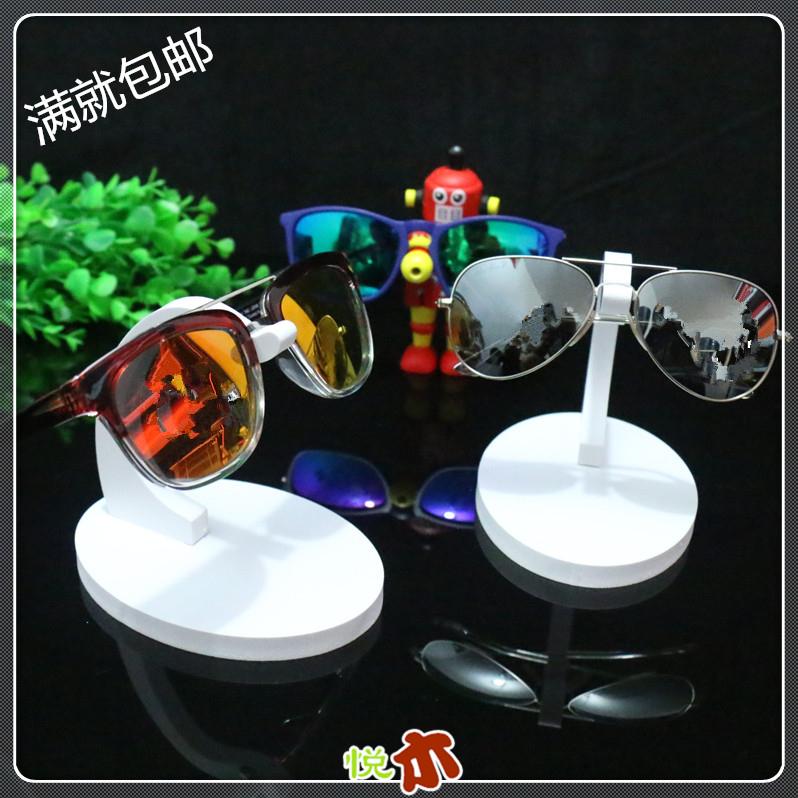 白色单付太阳镜陈列道具 眼镜展示架 眼镜店精品装饰摆放摆件潮品