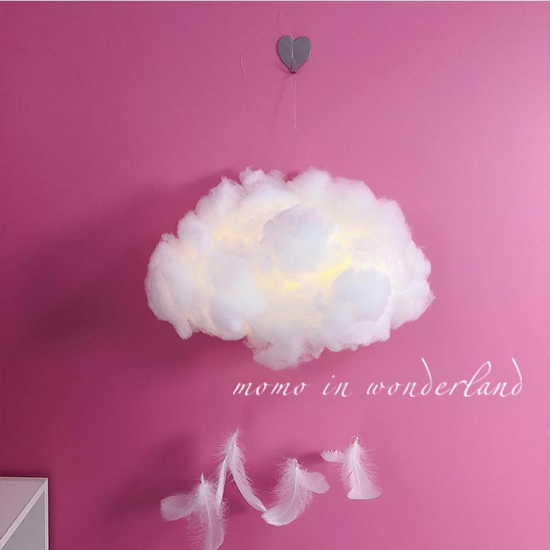 创意DIY云朵灯棉花手工礼物少女心浪漫墙面房间装饰礼品材料包