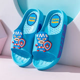 Children's cartoon slippers boys and girls summer soft bottom non-slip bath big virgin baby one indoor beach sandals