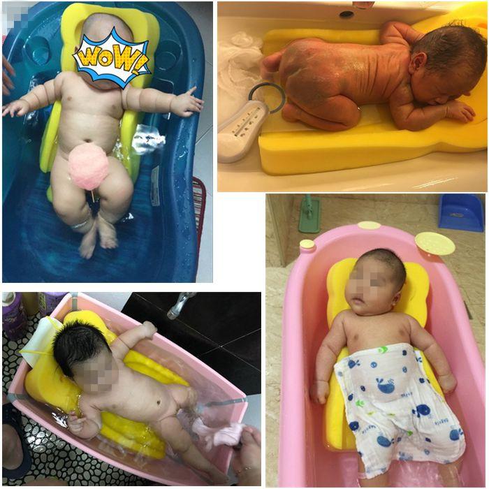 日本新生婴儿洗澡盆海绵垫游泳馆浴架网床宝宝可坐躺通用神器防滑