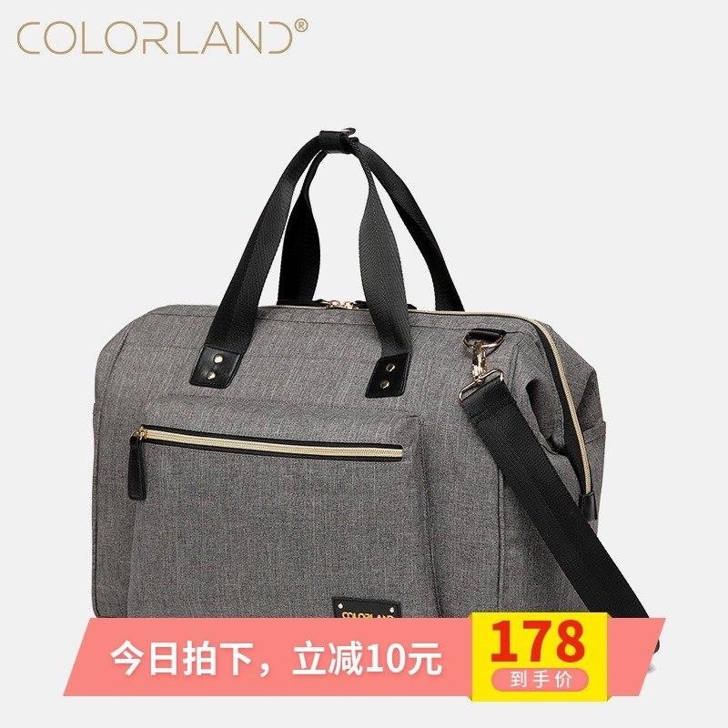 colorland媽咪包多功能大容量母嬰包單肩斜跨時尚媽媽包手提包