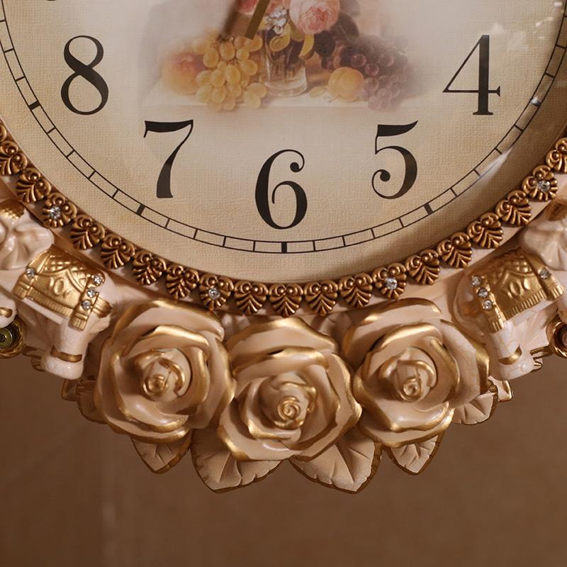 石英鐘客廳雙面掛鐘歐式大氣靜音鐘表創意家用大掛表時尚個姓時鐘