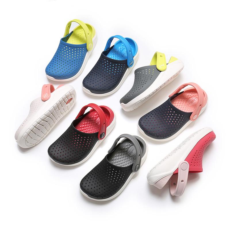 儿童拖鞋夏季男童拖鞋亲子沙滩鞋中大童凉拖鞋女户外防滑洞洞鞋男