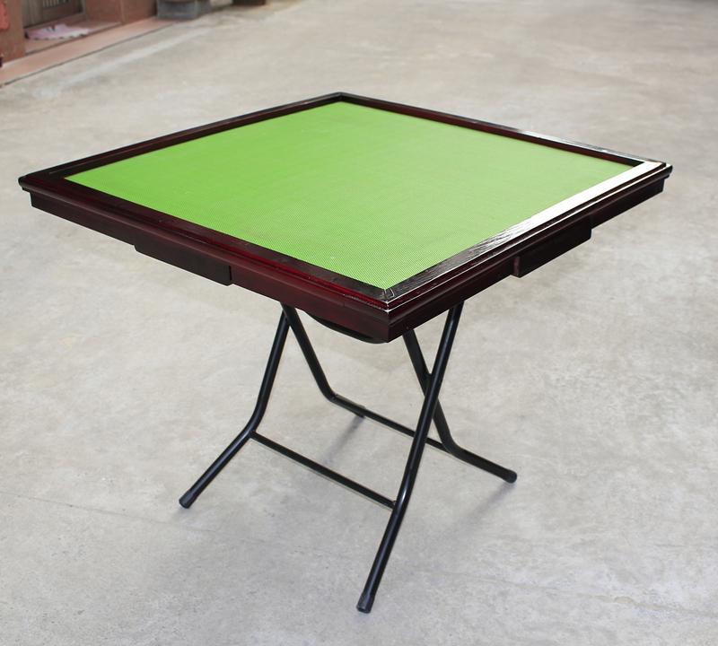 包邮现货急发麻将桌 简易折叠实木家用象棋桌便携手搓两用麻将台