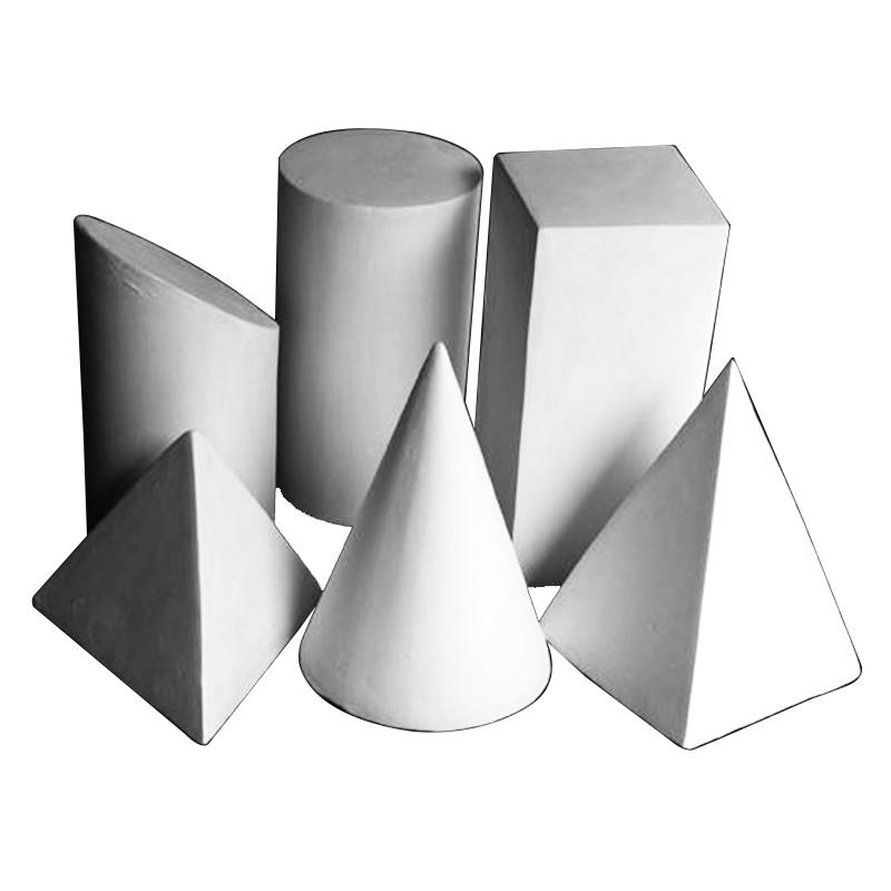 素描石膏几何体模型模具批发单个迷你石膏像摆件16个一套美术教具
