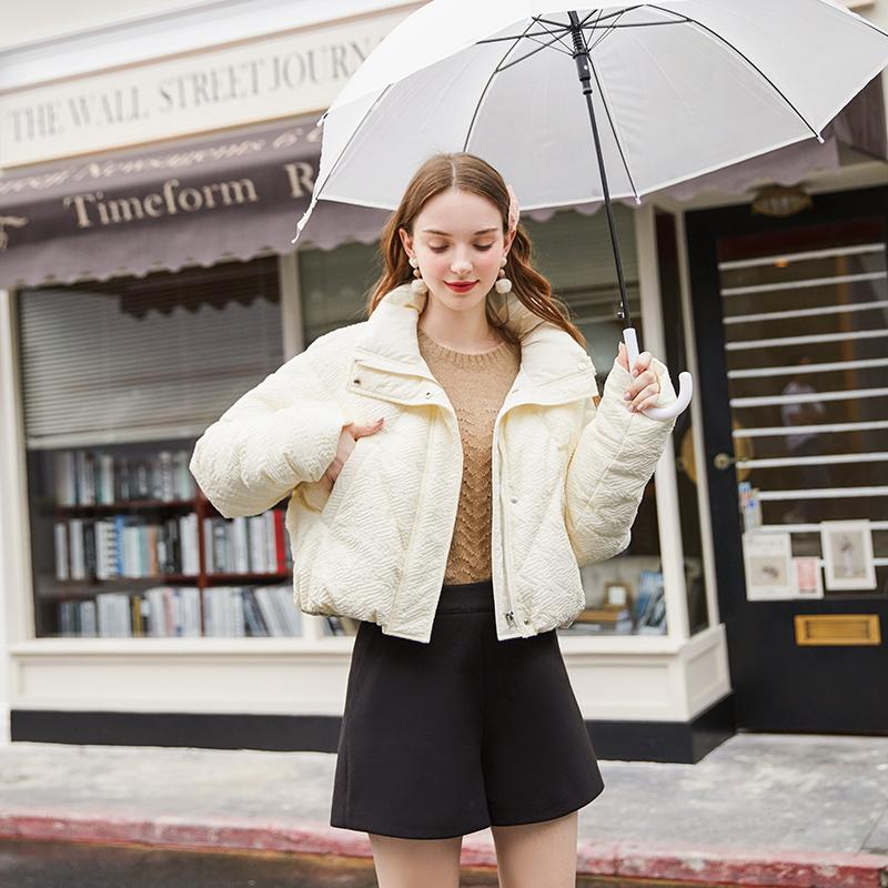 ZK正品牌羽绒服女欧货时尚小个子短新款外套2020冬150cmins潮轻薄