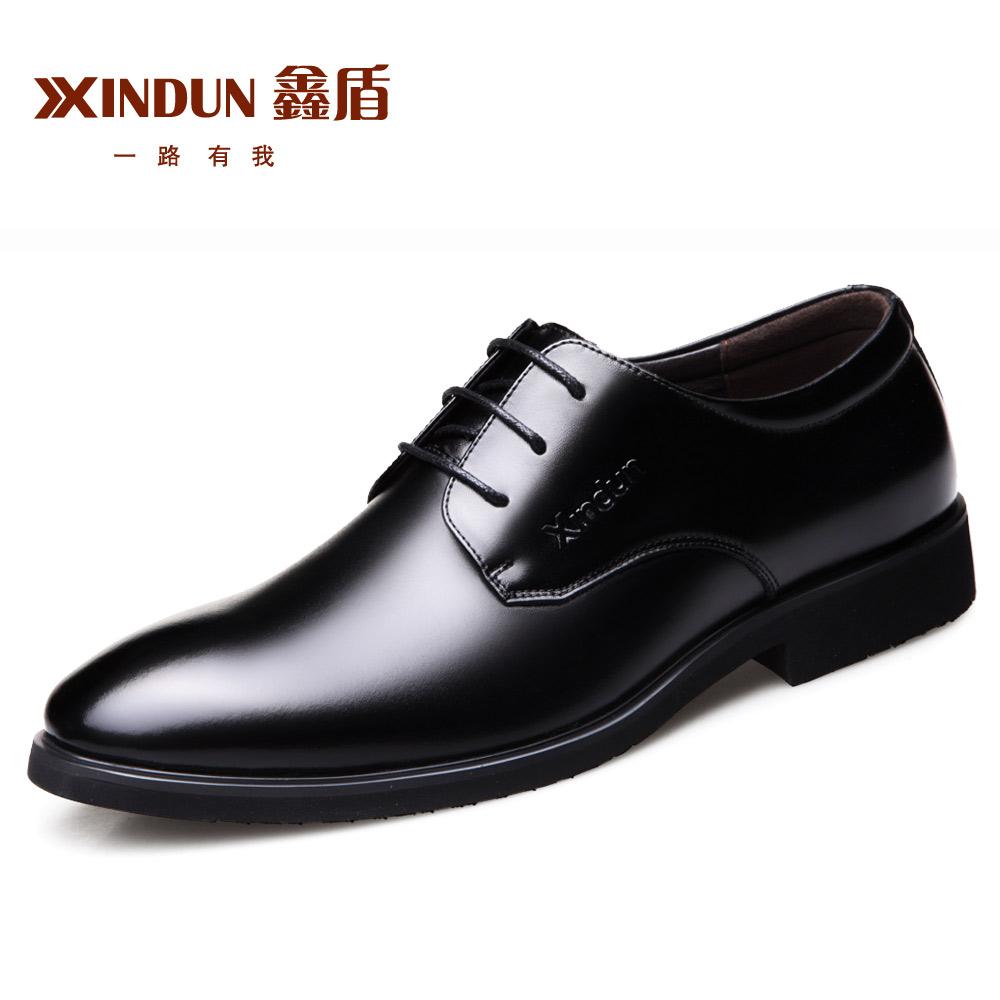 秋季男士皮鞋男鞋韩版青年商务内增高透气英伦休闲真皮正装鞋子男
