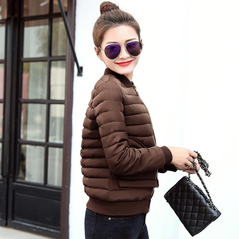 秋冬新款棉衣女短款修身小棉服轻薄短款小棉袄女棒球服棉服短外套